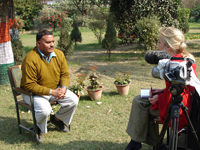 Dr. Shukla given interview to Reporter from Swittzerland