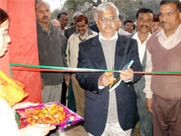 Vice-chancellor of Allahabad University inagurating the Exhibition