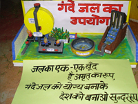 Model display utilization of Waste Water