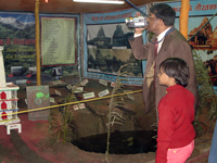 Prof. B. D. Tripathi, BHU in the exhibition