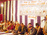 Ganga Exhibition  - Prof. Shukla recall local people to save Ganga to save Life in a programme