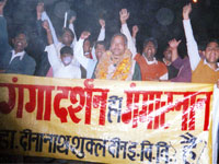 A rally marched in mela premises