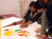 Painting compitition in exhibition campus