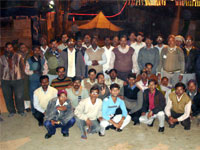 Group photo of Volunteers with Prof. Shukla